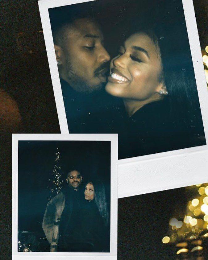 麥可B喬丹與洛莉哈維公布合照認愛。圖/摘自Instagram