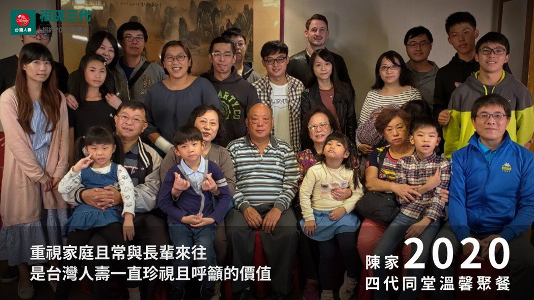 台灣人壽線上祖孫三代健走圓滿落幕,於我的大家族故事主題中,拍攝三支影片,其中「四...