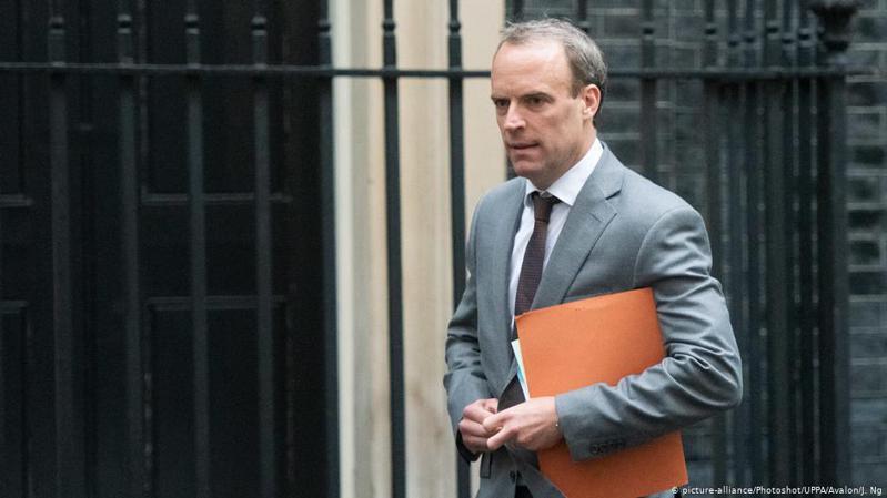 英國外交大臣拉布。 圖/德國之聲中文網