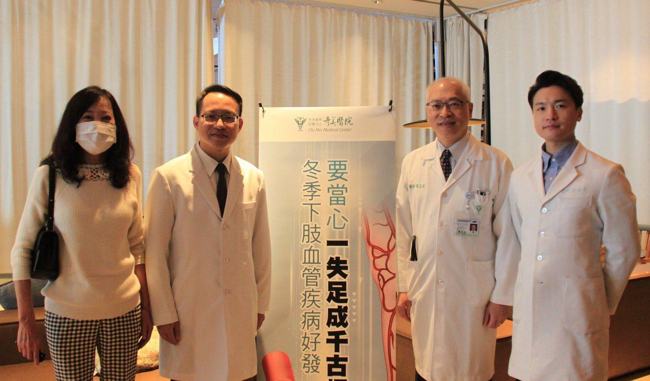 奇美醫院心臟內科醫師提醒大家注意下肢血管栓塞問題。 圖/奇美提供