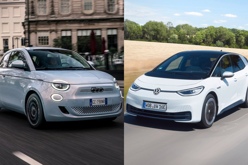 Fiat New 500、Volkswagen ID.3是唯二以純電車身分進入2...