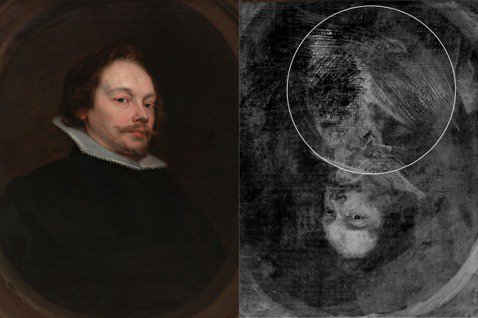 〈菲德烈克‧范‧馬瑟萊爾肖像〉經檢測後發現畫作底下藏有一個女子輪廓。 圖/奇美博...