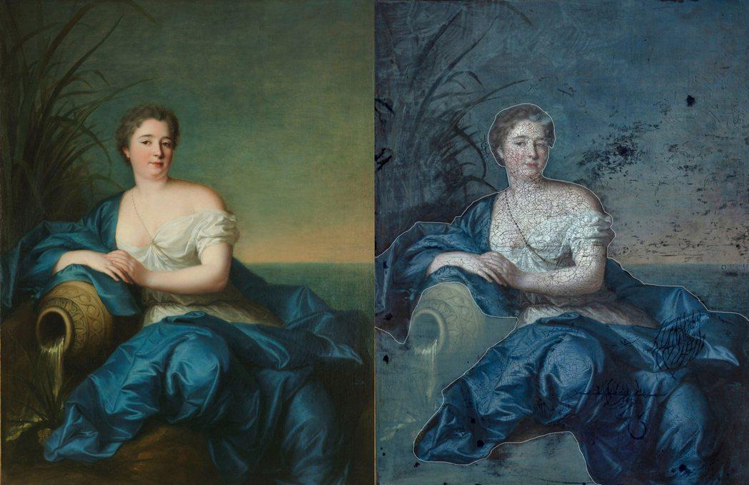 〈女子肖像〉經檢測發現人物及其衣袍上的凡尼斯曾被清洗過。 圖/奇美博物館提供