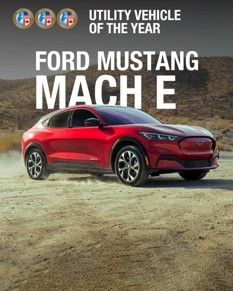 純電休旅Ford Mach-E拿下2021北美「年度多用途車款風雲車」 (Uti...