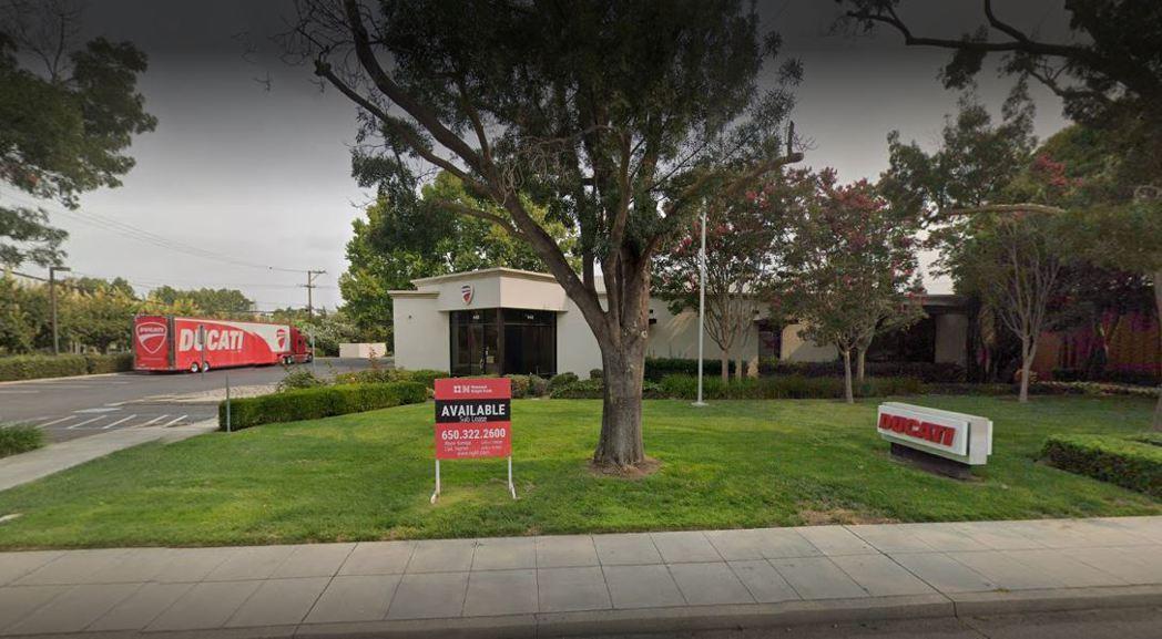 Ducati位於美國加州山景城的美北辦事處。 圖/截自Google地圖