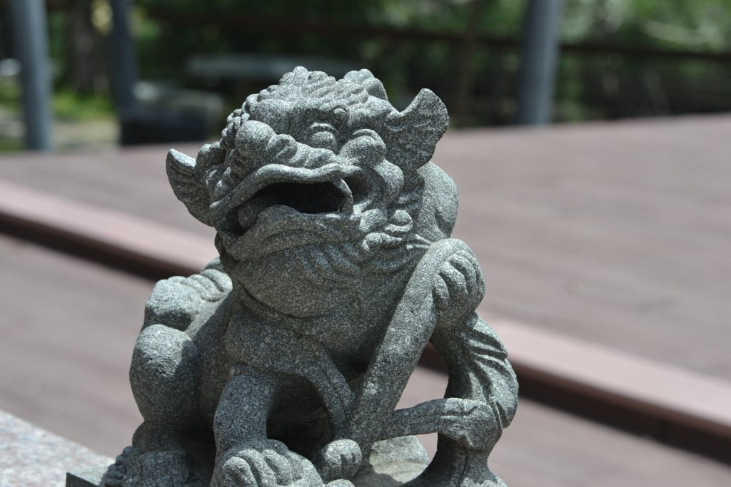 石獅子。 聯合報系資料照片/記者鄭惠仁攝影