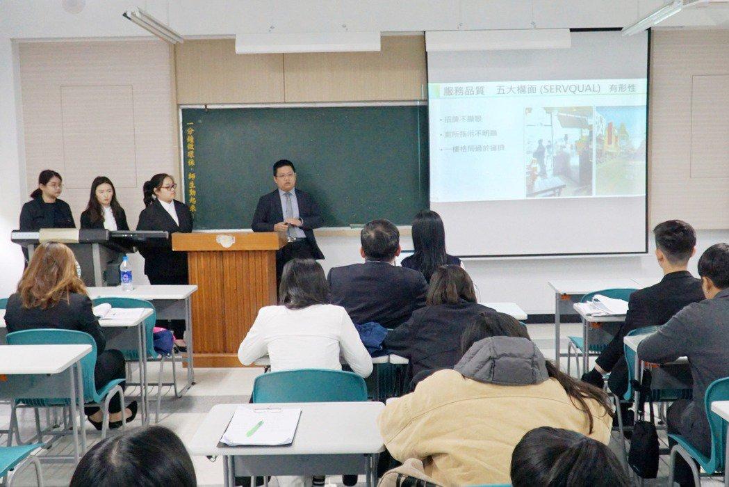 大葉大學企管系課程獲教學實踐計畫獎助。 大葉大學/提供。