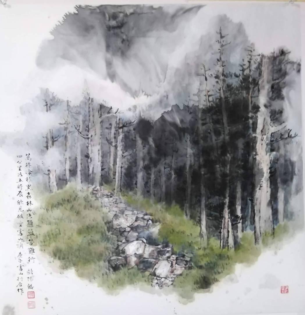 藝術家歐陽鯤受高雄書畫協會邀請展出畫作。 業者/提供
