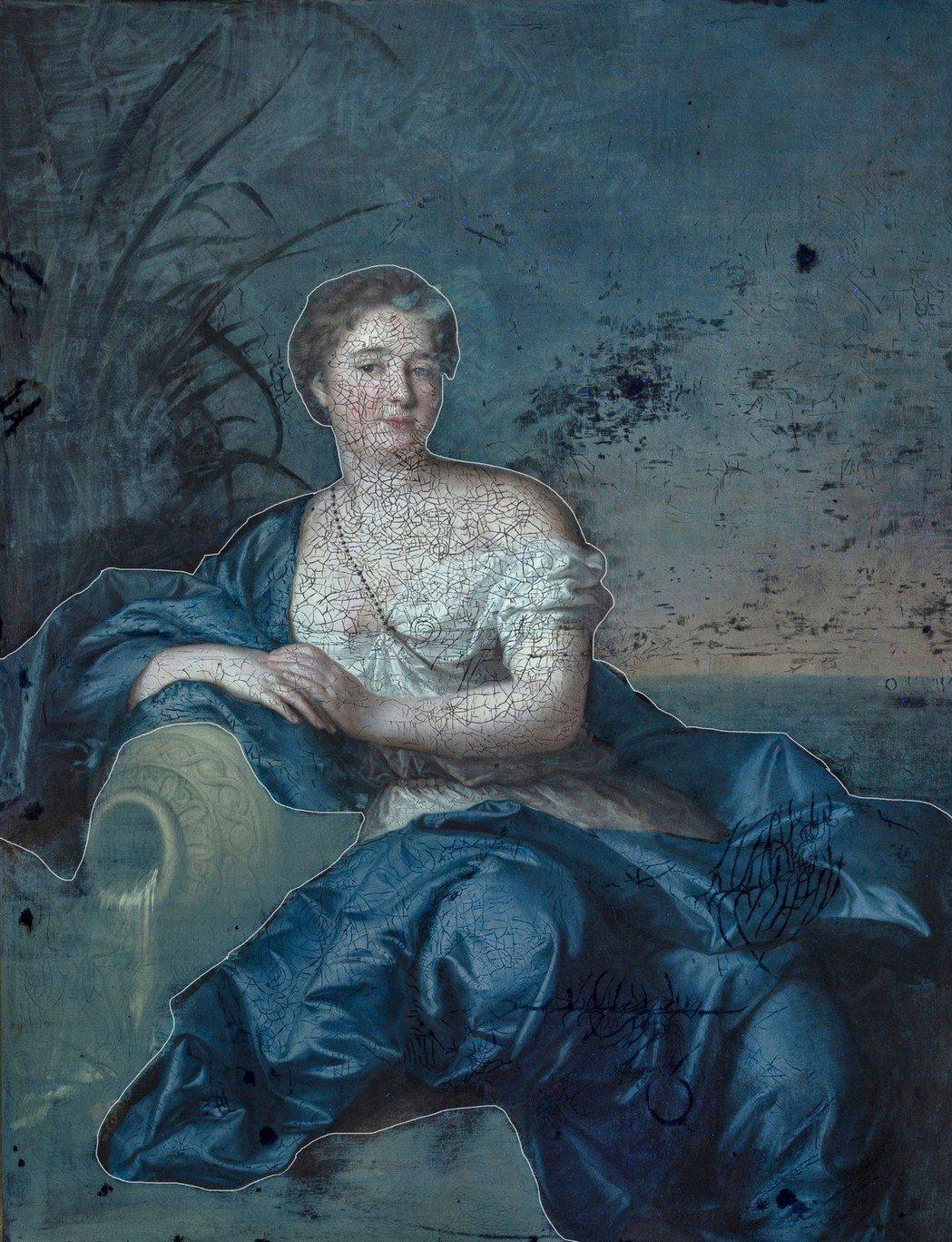 〈女子肖像〉經檢測發現人物及其衣袍上的凡尼斯曾被清洗過。  奇美館/提供