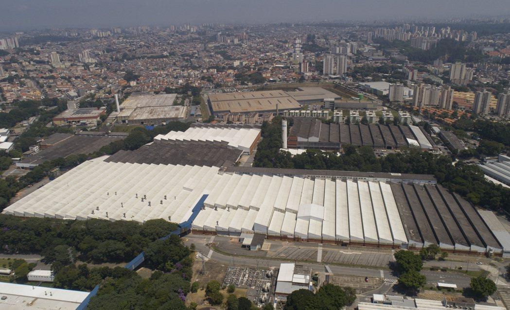 福特在巴西大聖保羅地區Sao Bernardo do Campo工廠的空中鳥瞰照...