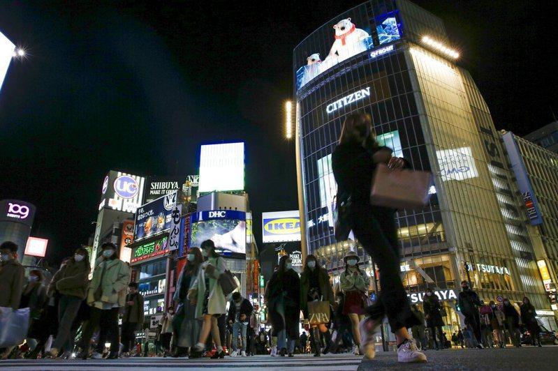 日本街頭。美聯社
