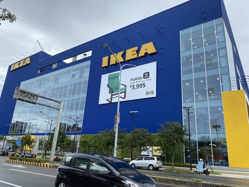 IKEA桃園店今早宣布宣布全館消毒,暫停營業一天。記者高宇震/攝影