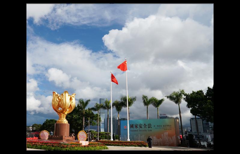 圖為香港金紫荊廣場去年7月1日景象。新華社