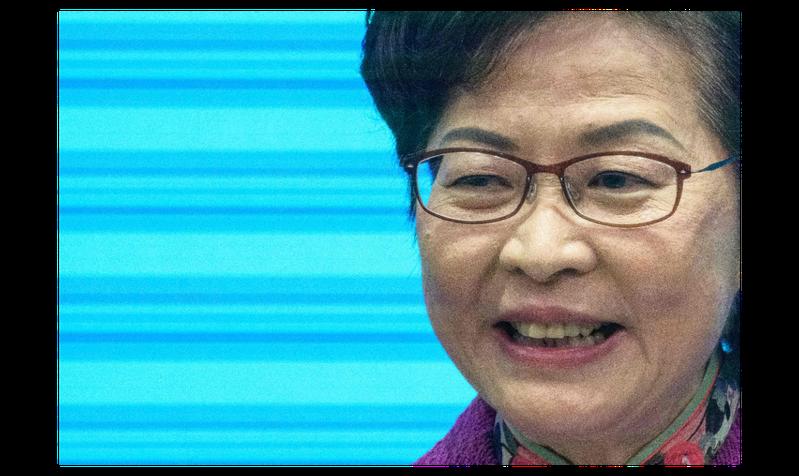 香港特區行政長官林鄭月娥。法新社