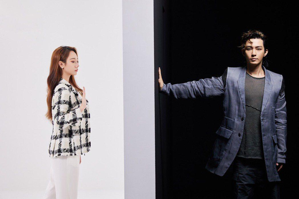炎亞綸(右)的新歌「不安室的奈美惠」,攜手Julia吳卓源大玩科技梗。圖/索尼音...