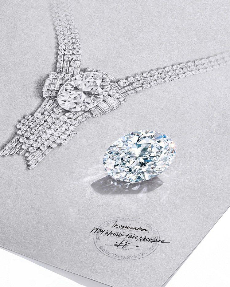 Tiffany以一顆重逾80克拉D色、內部無瑕(淨度評級為IF)的橢圓形鑽石重塑...