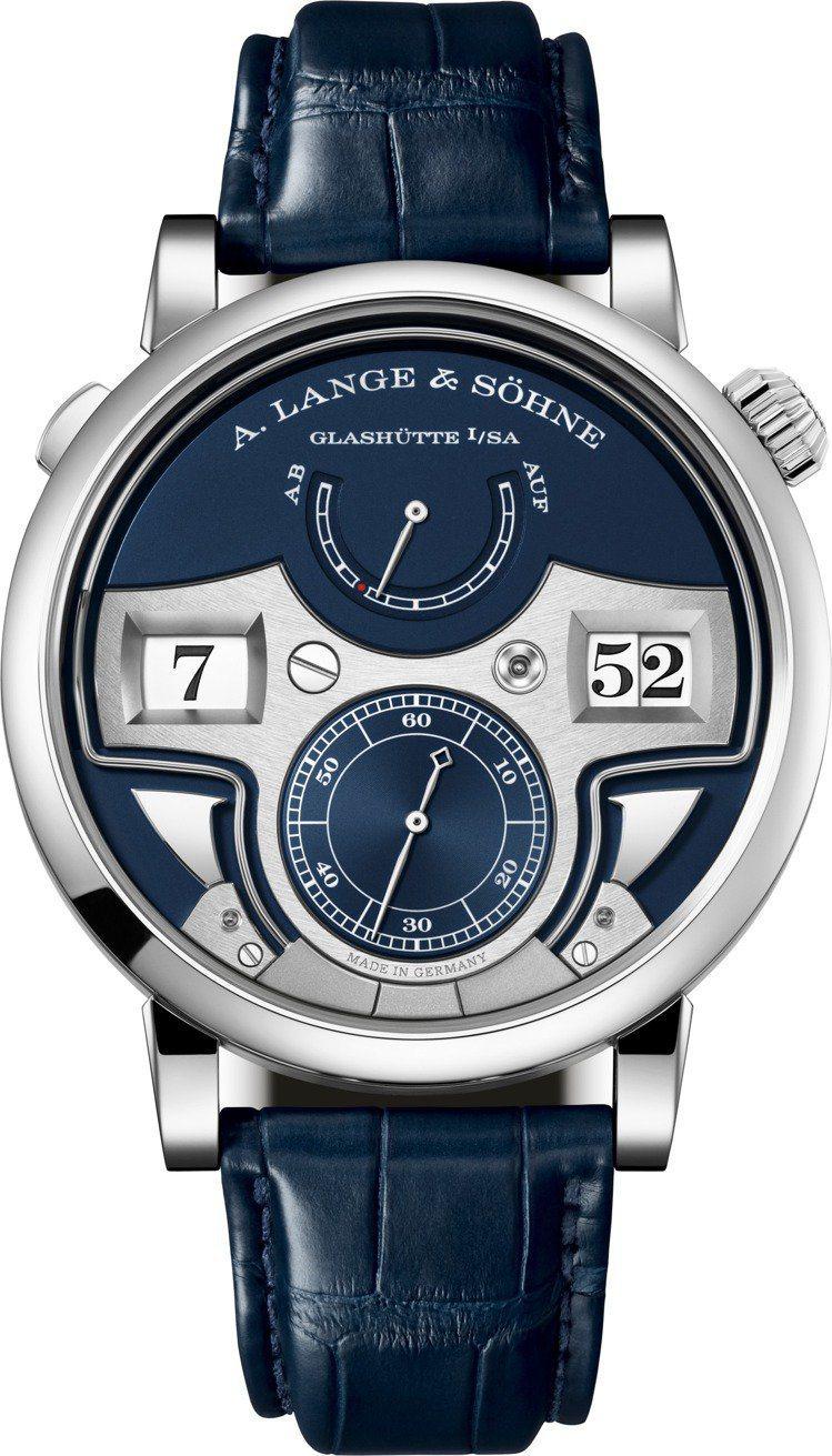朗格的Zeitwerk「十進位」三問報時腕表,全世界限量30只,價格未定。圖 /...