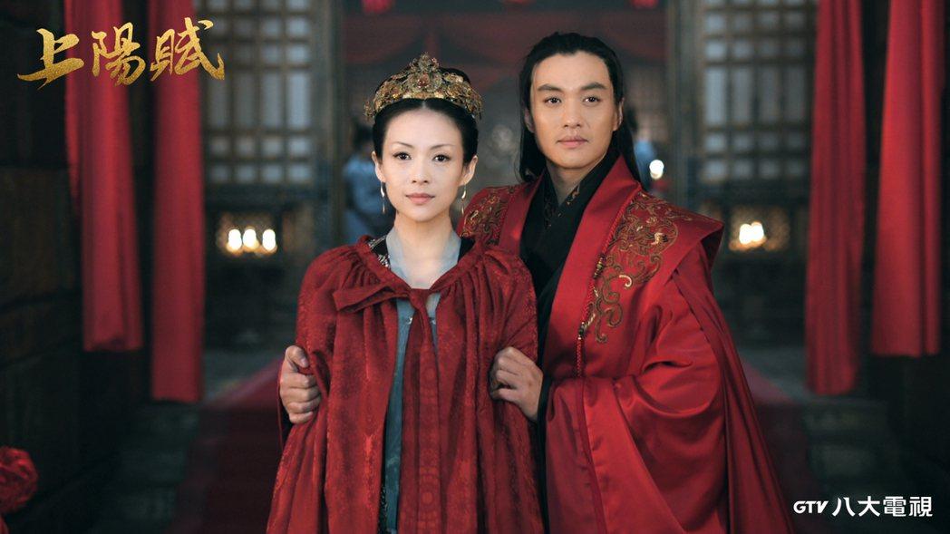 章子怡(左)、周一圍主演「上陽賦」。圖/八大提供