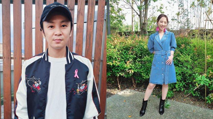 張書偉(左)與勇兔認了發展中。 圖/擷自臉書