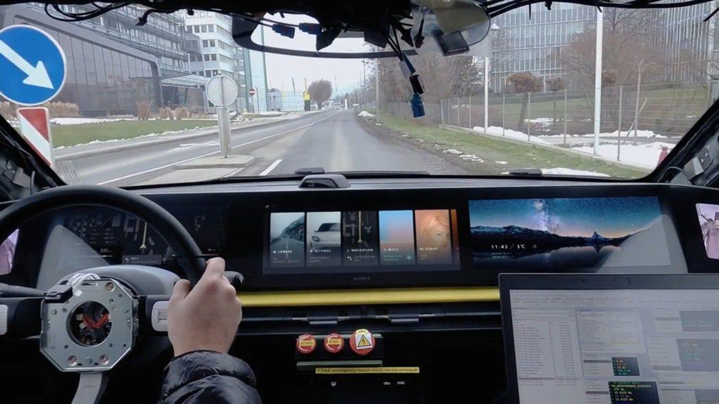 Sony VISION-S電動車正在積極路試中。 圖/Sony提供