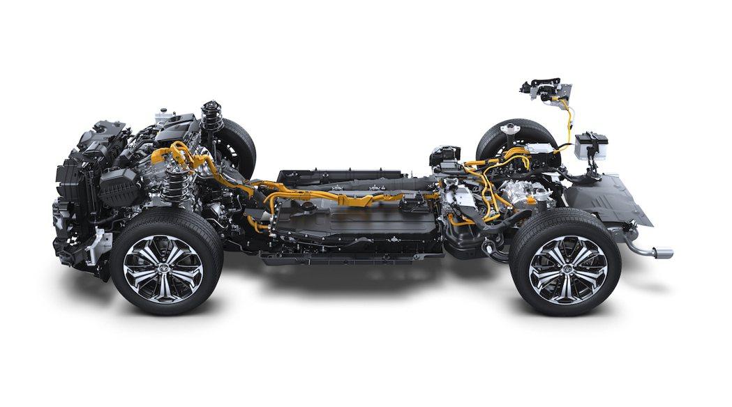 Toyota RAV4 PHEV底盤。 圖/Toyota提供