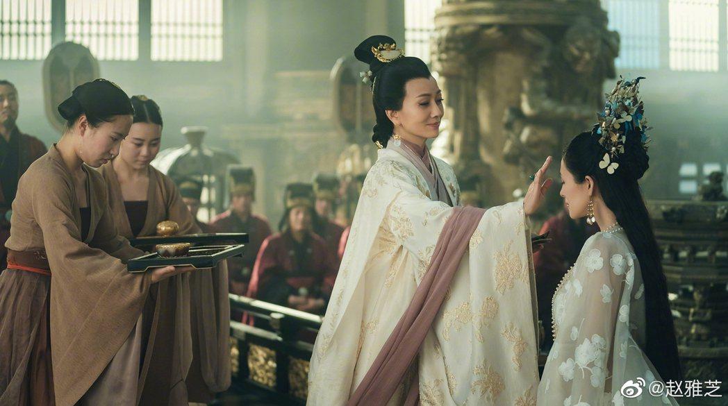 趙雅芝演出「上陽賦」。圖/擷自微博