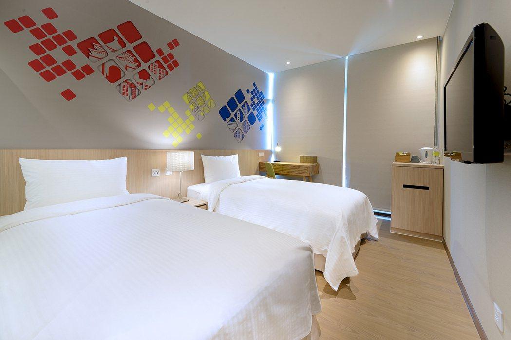 晶贊都會旅店都會雙人房。業者/提供