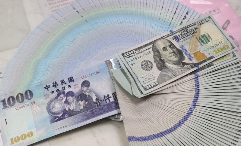 新台幣今(13)日以28.27元兌1美元開盤,較昨天收盤價升值2.11角。聯合報系資料照/記者潘俊宏攝影