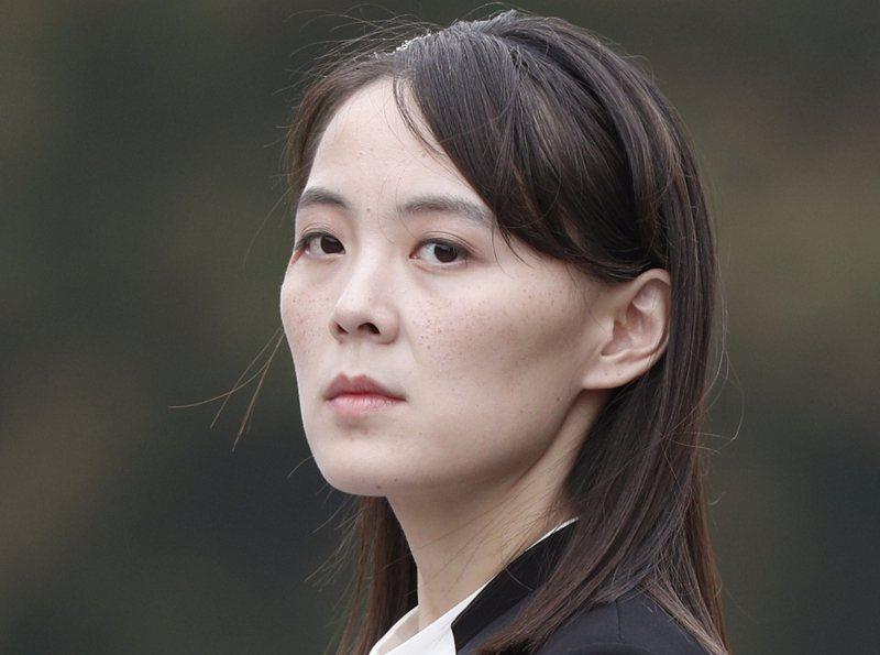 北韓領導人金正恩的胞妹金與正今天砲轟南韓當局「白痴」。(美聯社資料照片)