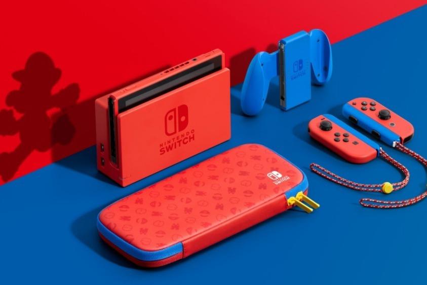 瑪利歐亮麗紅 X 亮麗藍!任天堂新款Nintendo Switch主機組合 售價新台幣9780元 | 科技娛樂 | 數位