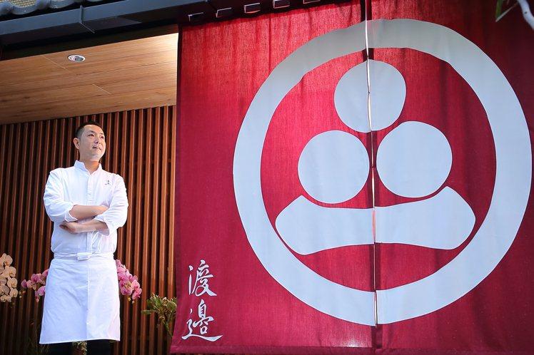「渡邉」主廚渡邉信介,擁有豐富的日本料理經歷。記者陳睿中/攝影