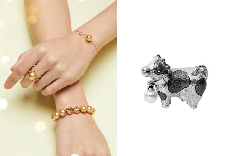 MIKIMOTO推出可愛的乳牛造型胸針並推薦多款南洋黃金珍珠作品迎接即將到來的農...