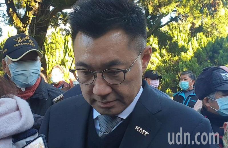 江啟臣強調連勝文接國民黨秘書長是臆測。記者鄭國樑/攝影