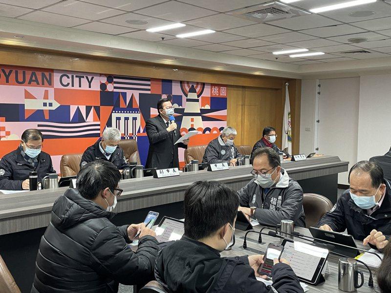 桃園市長鄭文燦今天主持市政會議。記者張裕珍/攝影