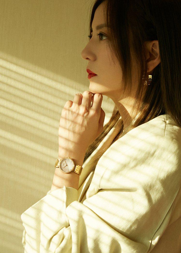 品牌代言人趙薇出席上海新春系列發表活動。圖/FENDI提供