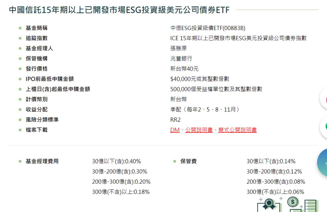 中信ESG投資級債ETF將是國內第一檔ESG債券ETF。資料來源/中信投信