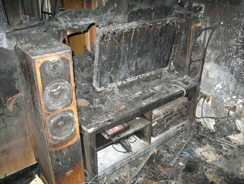 新竹市東區一處眷舍在2012年間連續傳出七起火警,陳姓住戶被縱火三次,滿目瘡痍。圖/讀者提供