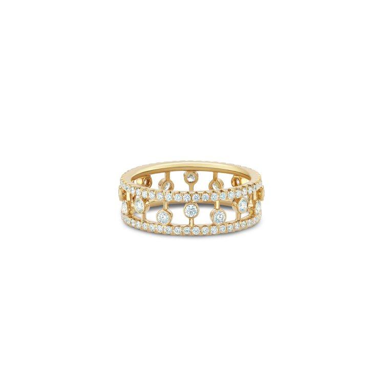 DE BEERS Dewdrop 18K黃金鑽石戒指,14萬6,000元。圖/D...