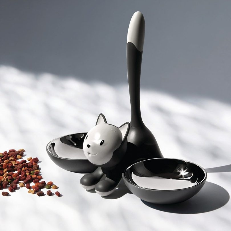義大利品牌Alessi旗下、由設計師Miriam Mirri操刀的一系列貓碗狗碗...