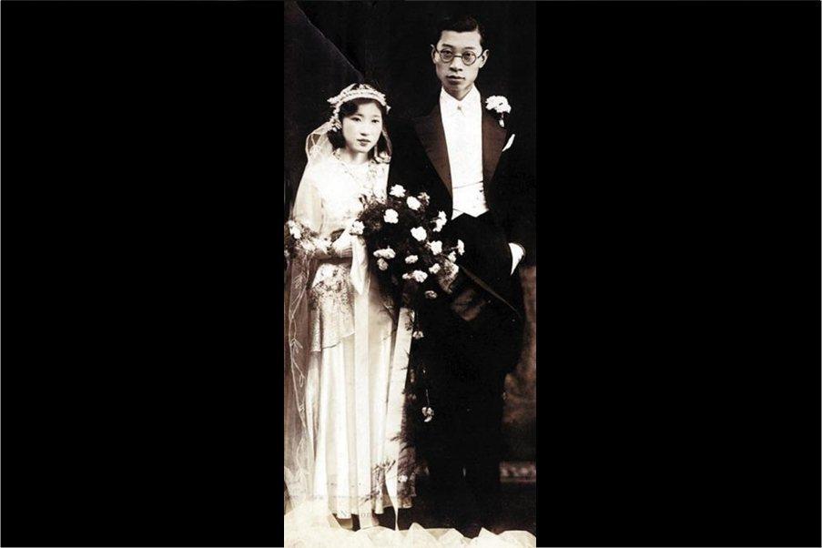 傅聰的父母,傅雷與朱梅馥的結婚照,攝於1932年,上海。 圖/維基共享