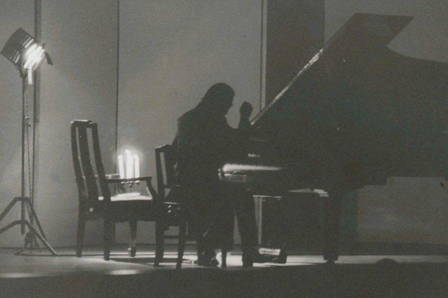 傅聰於台北中山堂的演奏會,攝於1987年。 圖/聯合報系資料照
