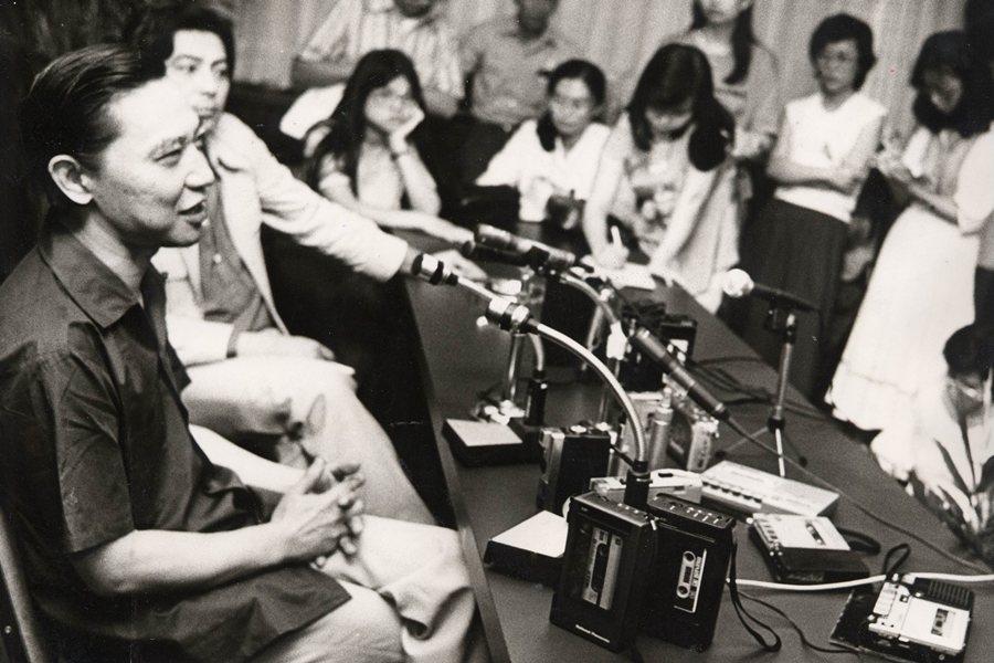 傅聰平日不喜與媒體打交道,也鮮少接受正式採訪,圖攝於1982年。 圖/聯合報系資料照