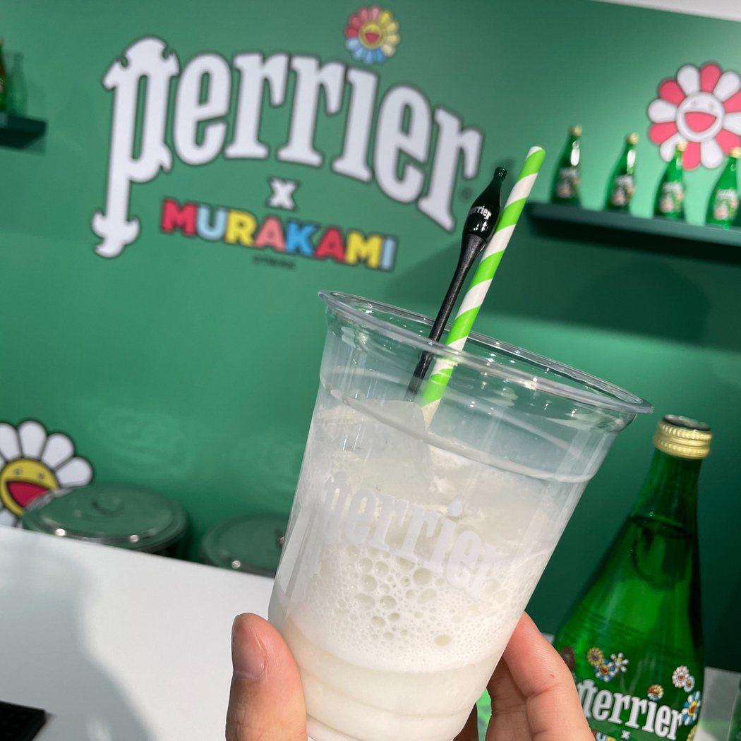 「沛綠雅╳村上隆」期間限定店中,由ROOM by Le Kief設計的特調飲品。...