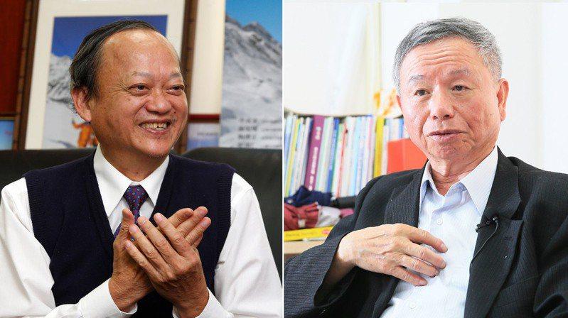兩位前衛生署長葉金川(左)、楊志良(右)在醫療群組裡吵開。圖/聯合報系資料照片