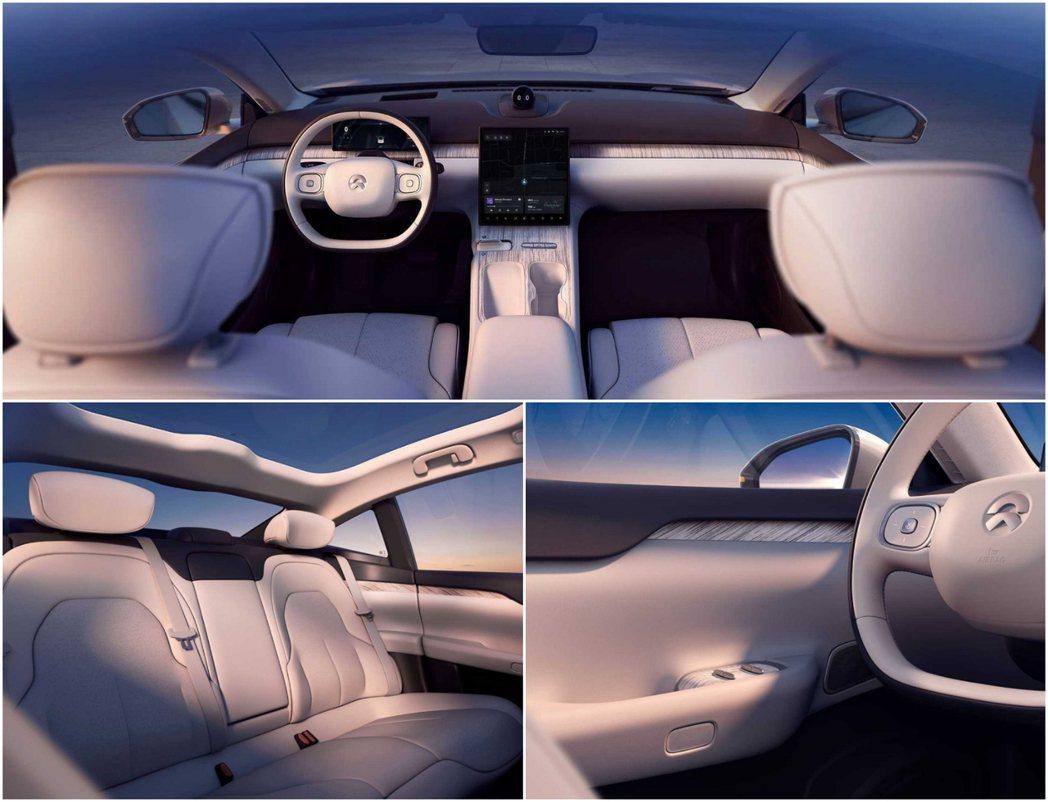 NIO ET7以打造第二起居室為車室設計理念。 圖/蔚來汽車提供