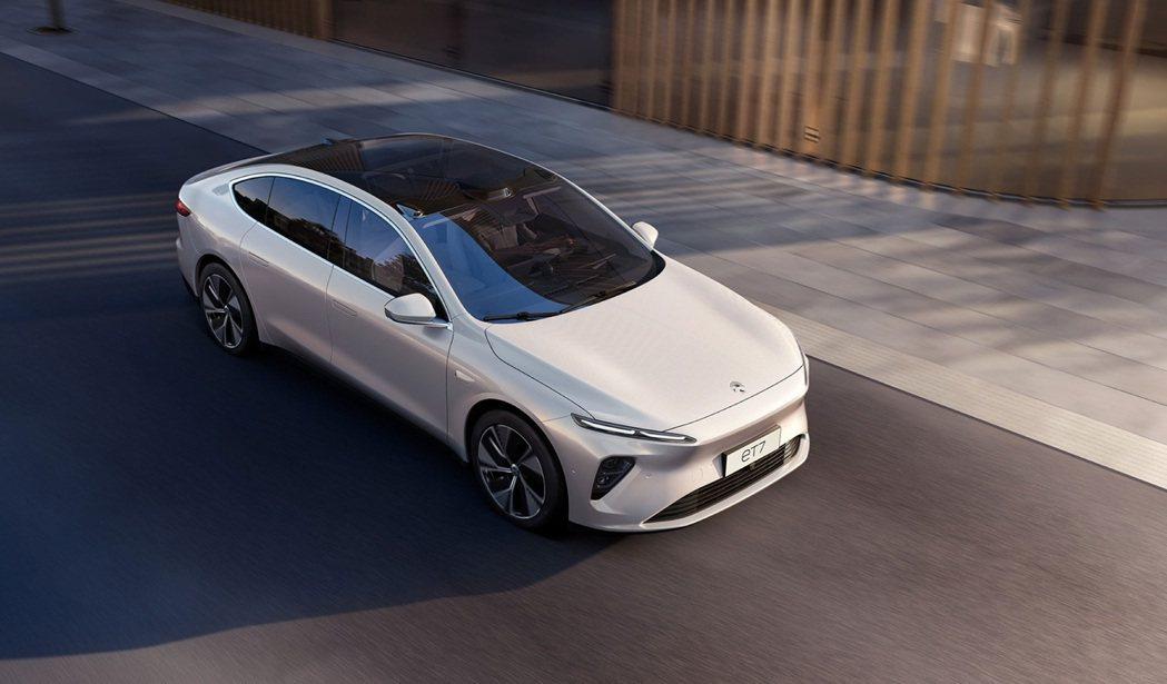 NIO ET7市場競爭對手為Tesla Model S。 圖/蔚來汽車提供