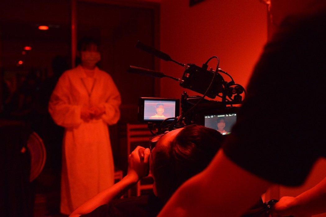 北科大文發系學生短片《我不是故意的》拍攝過程。 北科大/提供