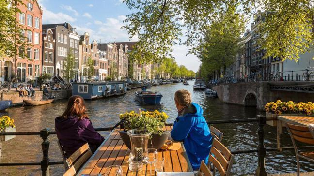 阿姆斯特丹街景。 網路照片