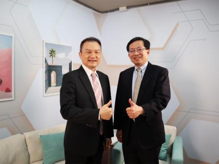 理財我最大-理財周刊發行人洪寶山(左)、蘇孟宗(右)