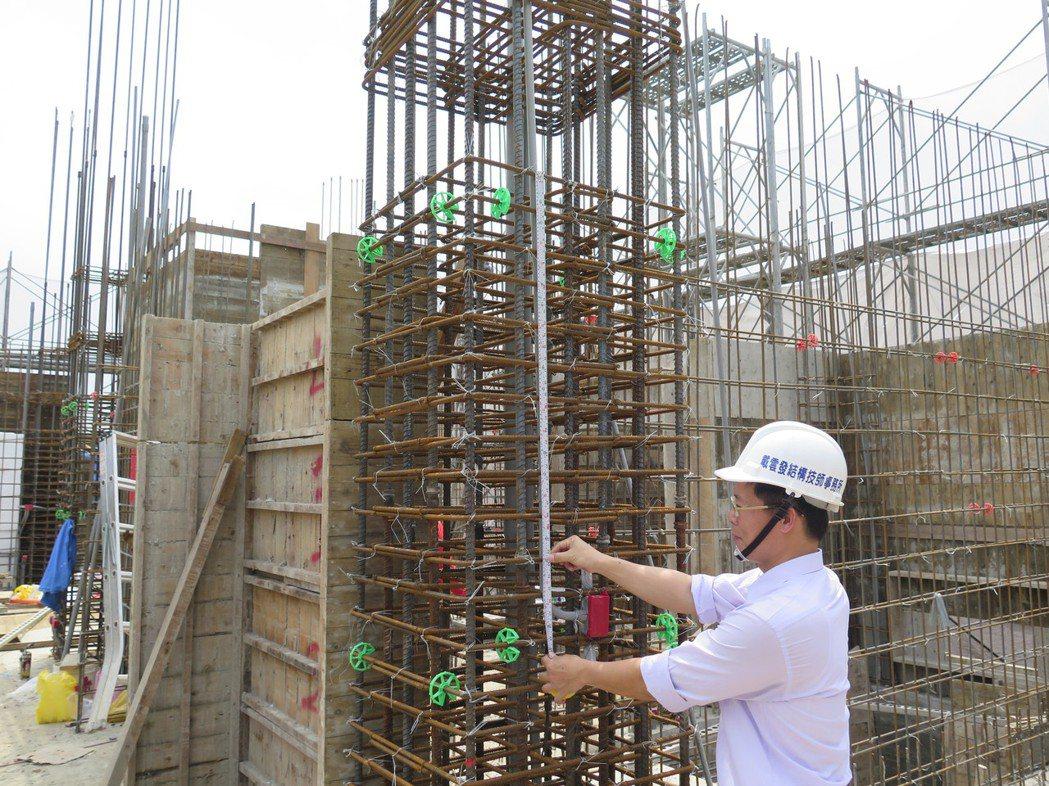 柱牆鋼筋查驗,查驗過程若有施工不良處,應立即改善。